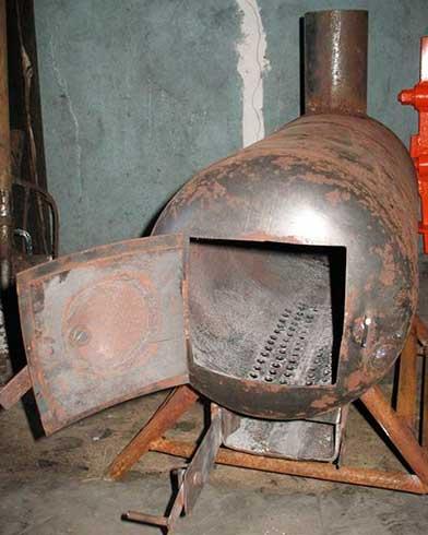 горизонтальная печь