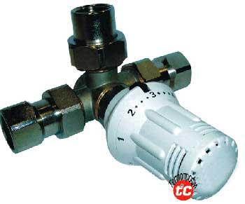 клапан с термоголовкой термосмесительный