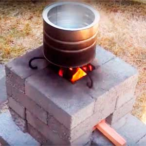 реактивная кирпичная печь