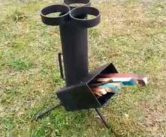 походная печка ракета