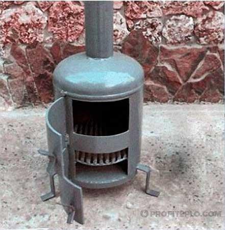 цилиндрическая вертикальная печь