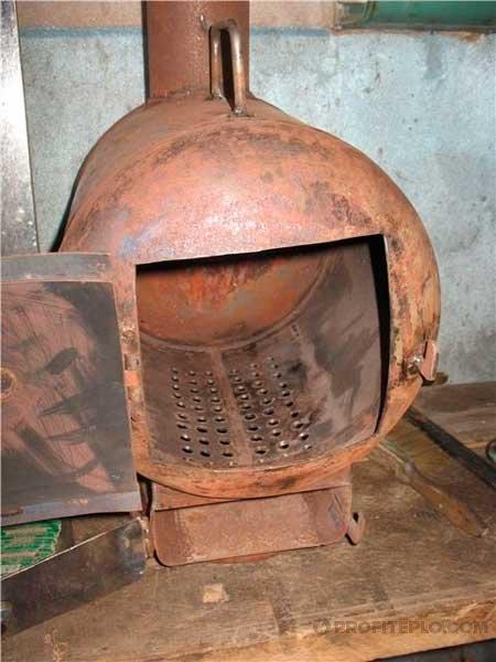 металлическая печь-буржуйка