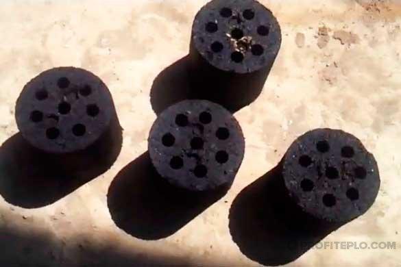 самодельный угольный брикет