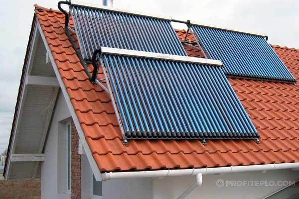 отопление солнечным коллектором