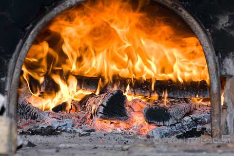 пламя в печи