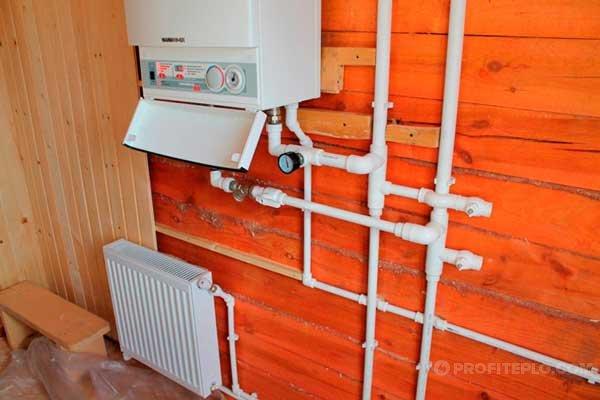 электрокотел на стене