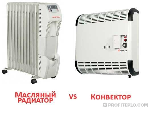 Конвекторы и масляные радиаторы: отличия и преимущества