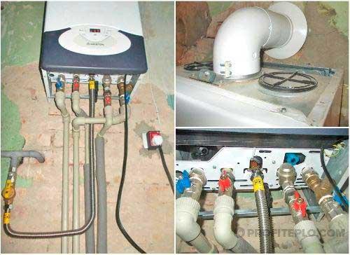 монтаж настенного газового прибора