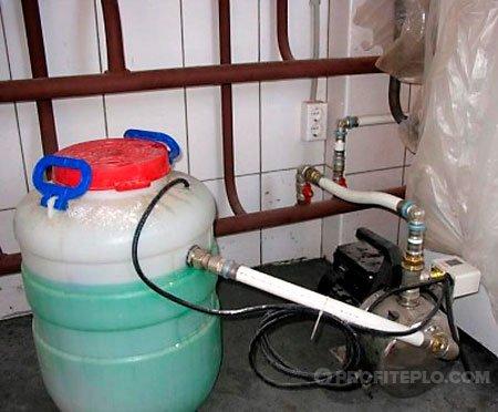 заправка закрытой системы отопления