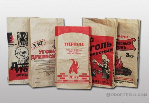 упаковки древесного угля в магазине