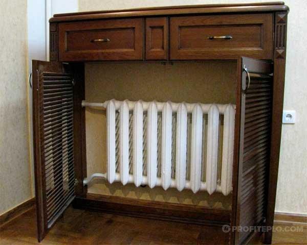 Виды экранов для радиаторов отопления: преимущества и недостатки