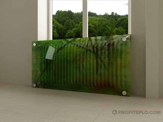 стеклянный экран из триплекса