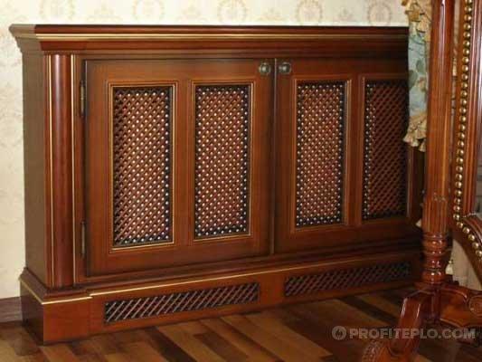 классический деревянный экран