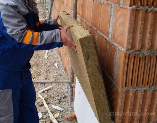 утепление стен снаружи минеральной ватой