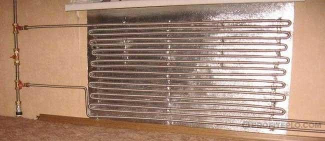 самодельный отопительный радиатор