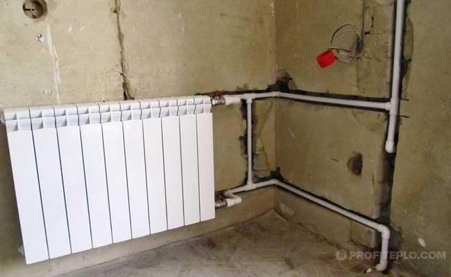 скрытие трубопровода в стене