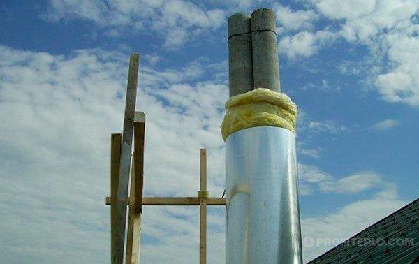 дымоотводный канал из асбестоцементной трубы