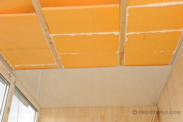 потолок утепленный пенополистеролом