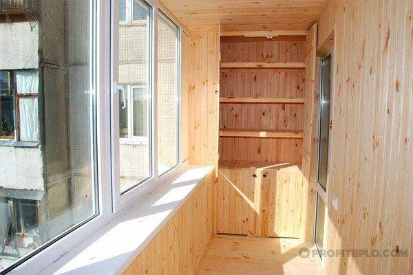 вагонка для утепления балкона
