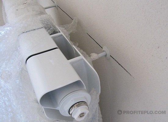 установка на стену